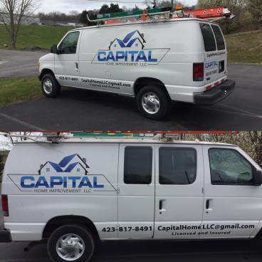 Van Decals for Capital Home Improvement