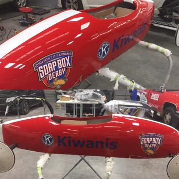 Decals for Kiwanis Soap Box Car