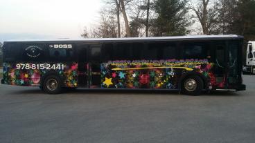 40' Party bus wrap