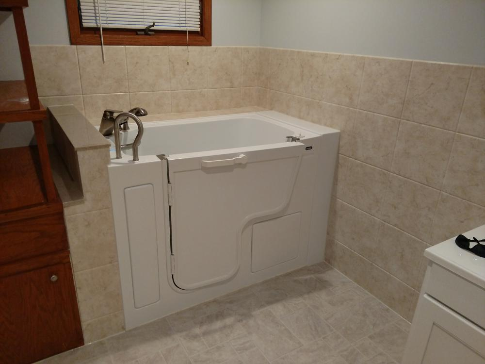 After Re-Bath Installed A Walk In Tub
