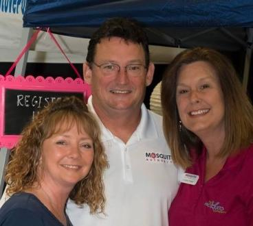 Meet the owners for your local mosquito service. Stacey & Ken Juergens, Andrea Prater.