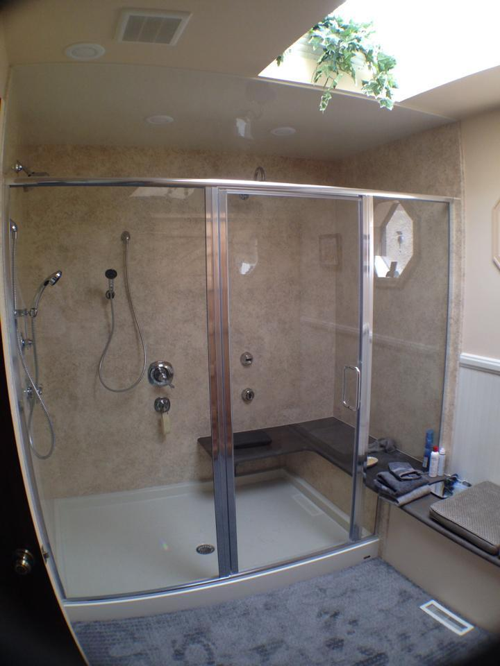 After Accessible Bathroom Shower
