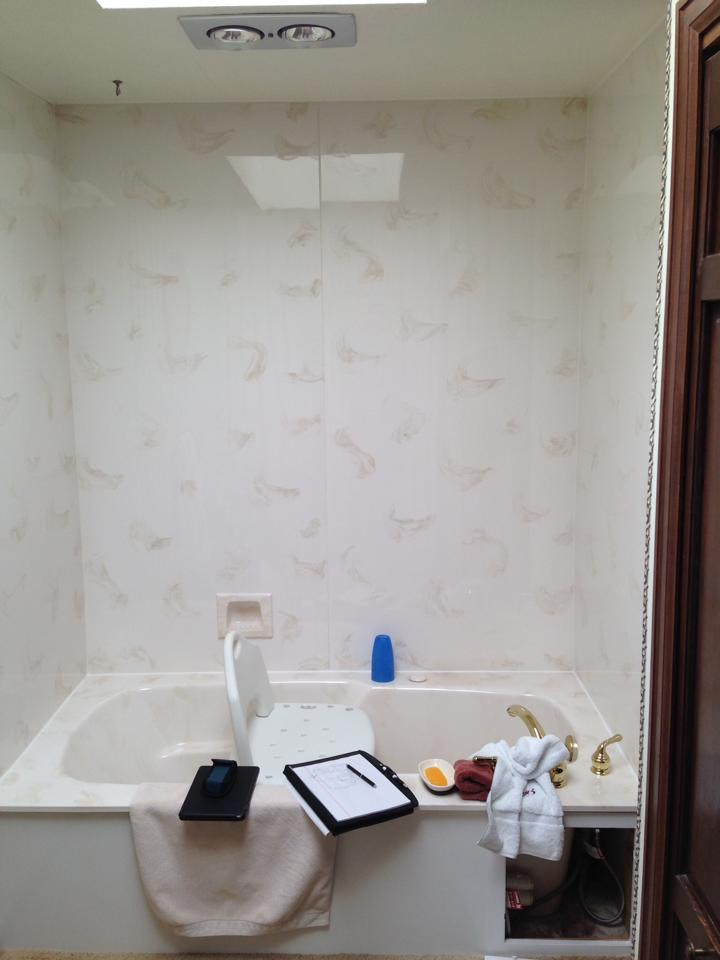 Before Accessible Bathroom Shower