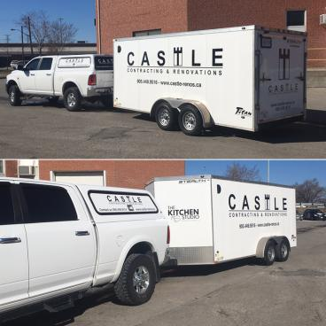 Castle Contracting & Renovations Vehicle Graphics