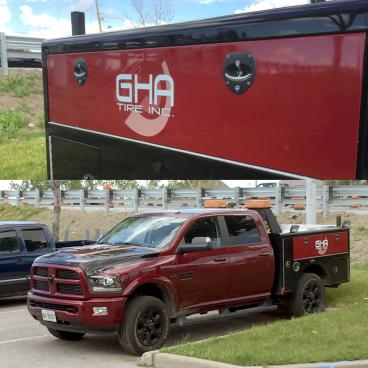 GHA Tire Inc. Vehicle Decals