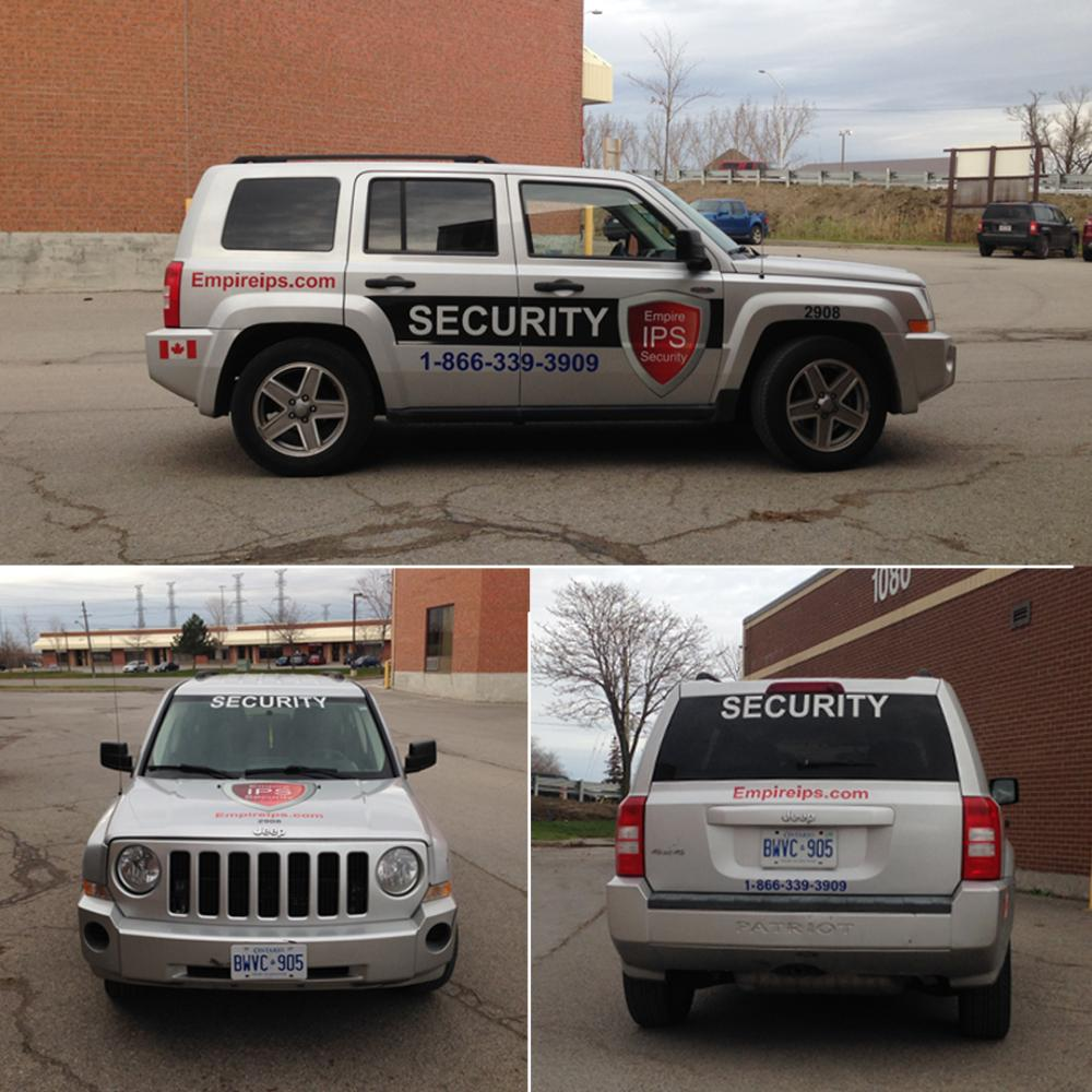 IPS Security Vehicle Graphics