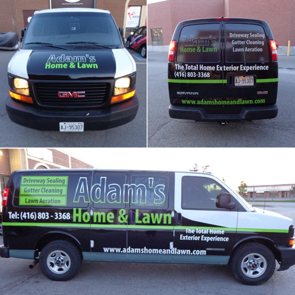 Adam's Home & Lawn Vehicle Graphics