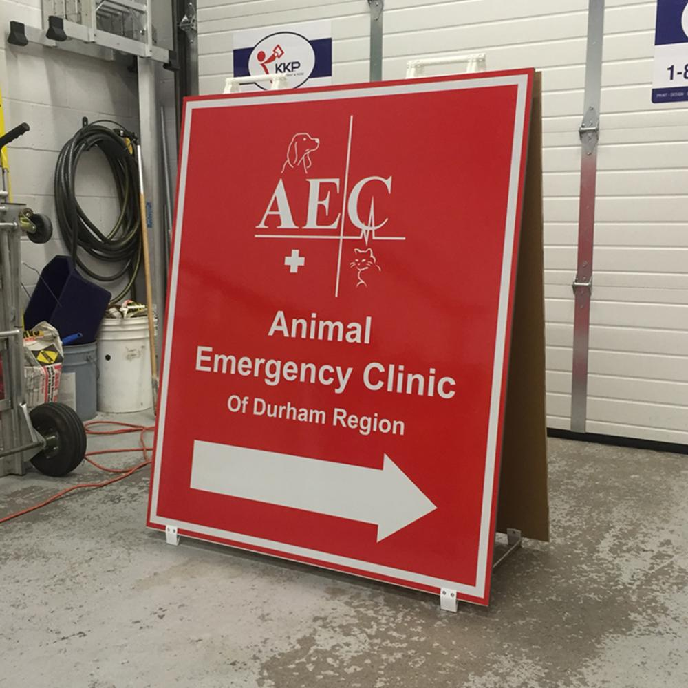 Animal Emergency Clinic Outdoor Sign