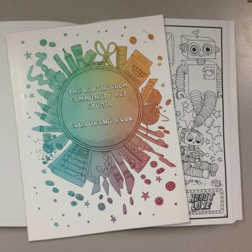 The Livingroom Community Art Studio Colouring Book