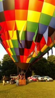 Hot Air Affair balloon festival in Anderson SC to raise money for the American Cancer Society.