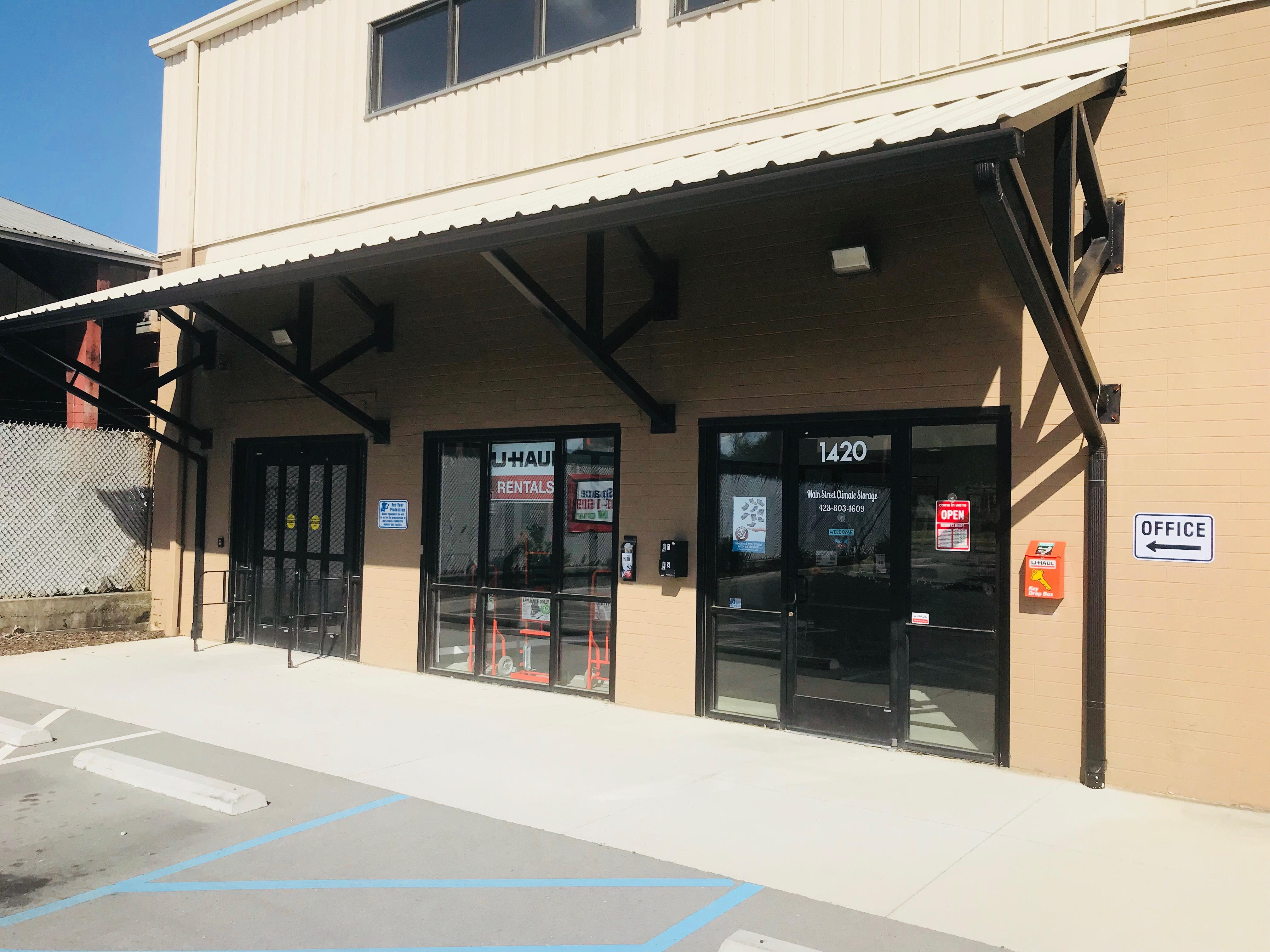 Front office door and tenant entrance