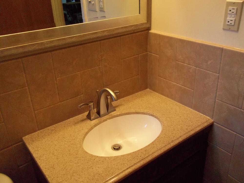 #17 After -  vanity, wainscot, mirror in Richmond, VA
