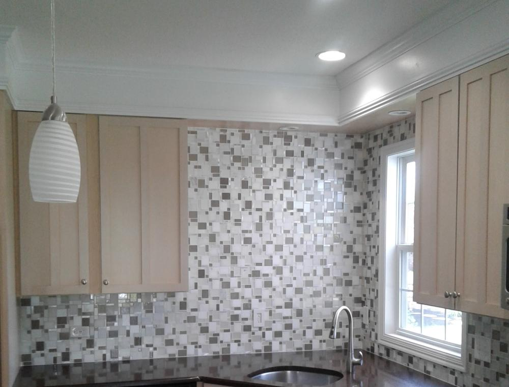Installed Backsplash in New Albany