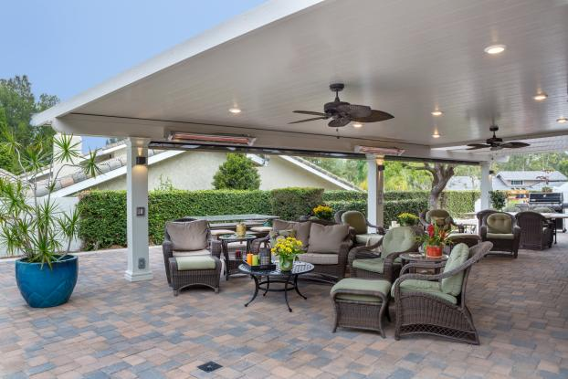 Cummings Elitewood Solid Insulated & Lattice Combination Patio Cover