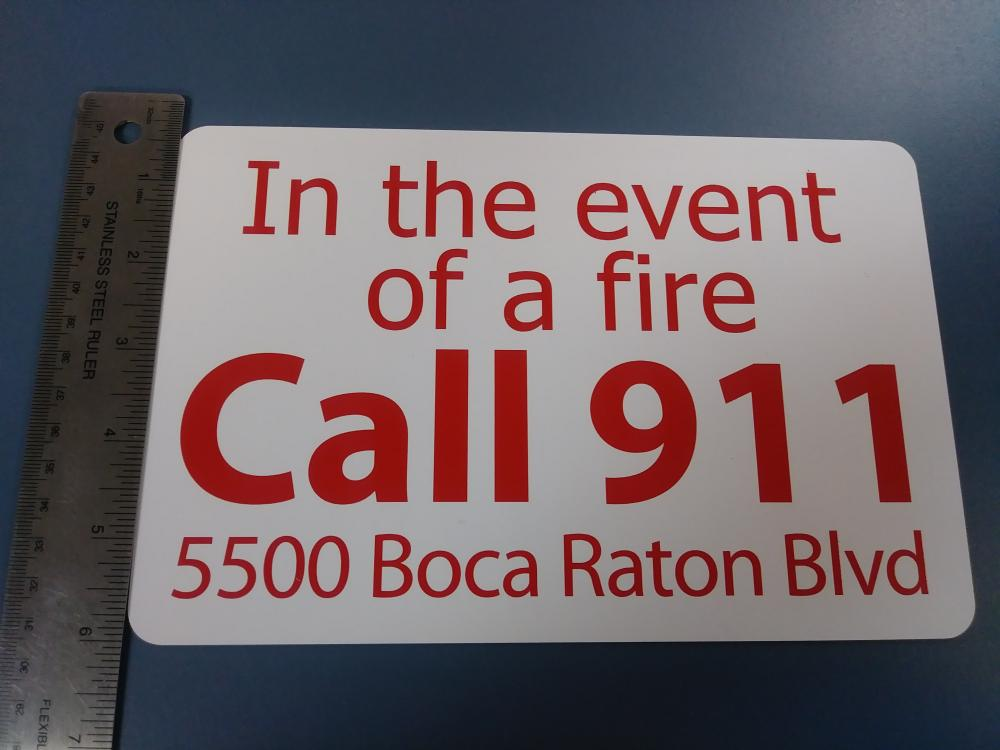 Apartment fire code signs