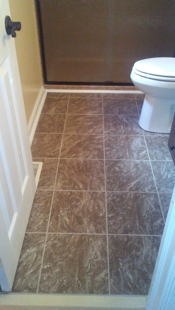Replaced shower, toilet, tile floors, then finished up with painting in Glen Allen, VA.  Gave it a whole new look.