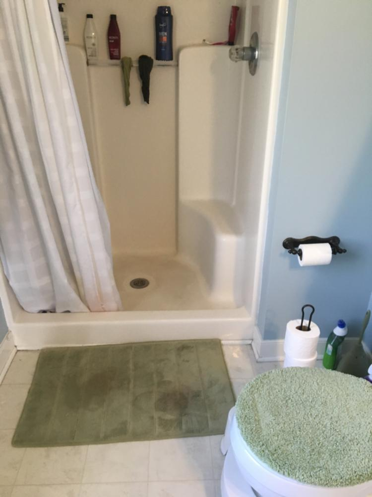 Before shower replacement in Chesterfield, VA