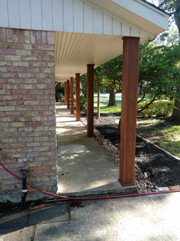 Front Porch Column Repair in Seabrook TX  (After Pic)