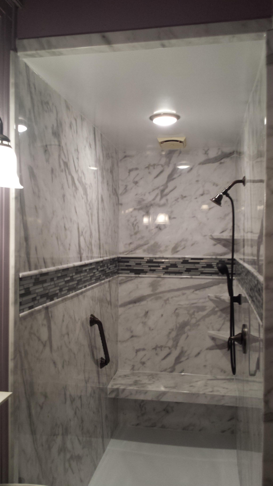 Update your bathroom with a new shower in the hottest new gray color scheme