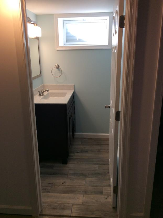 After Photo of Basement Bathroom Project in Swoyersville