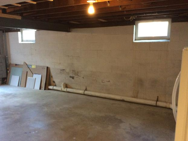 Before Photo of Basement Prior to Bathroom Installation in Swoyersville