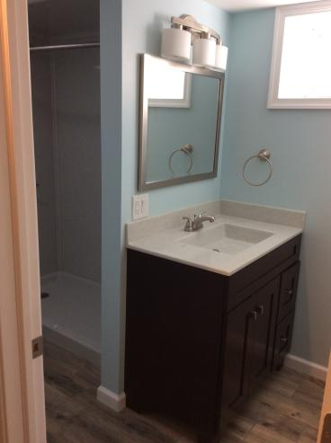 Basement Bathroom Project in Swoyersville