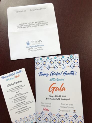 Timmy Global Health Gala Marketing