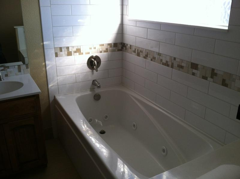 Jetted Tub with Tile surround and window
