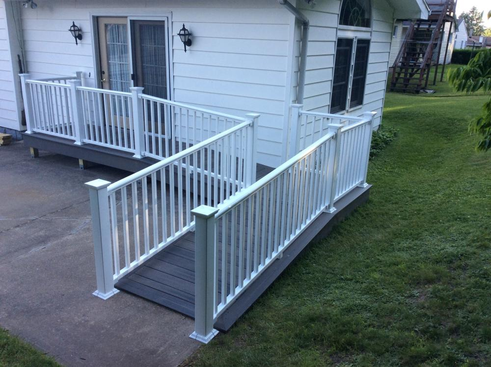 After Photo of Wheelchair Ramp Project in Pittston