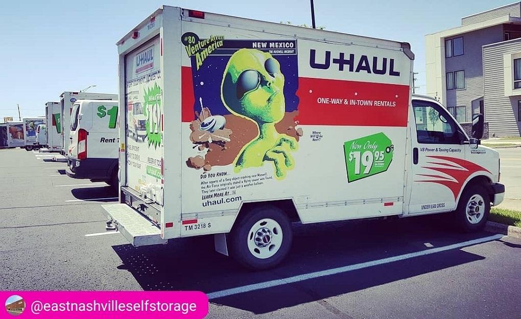 We have U-Haul trucks!