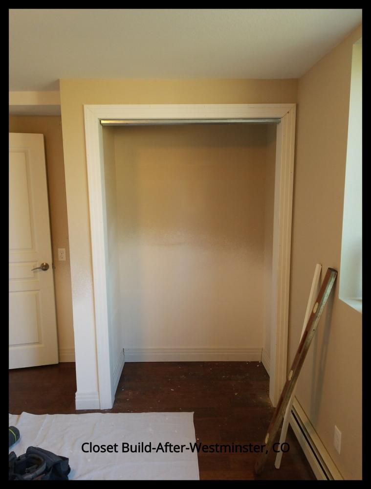 Closet Build After Photo-Westminster, CO