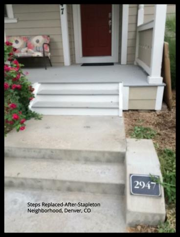Steps Replaced in Stapleton Neighborhood, Denver, CO