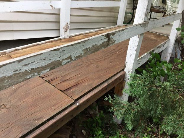 Universal Accessibility ramp repair - Before Casper WY
