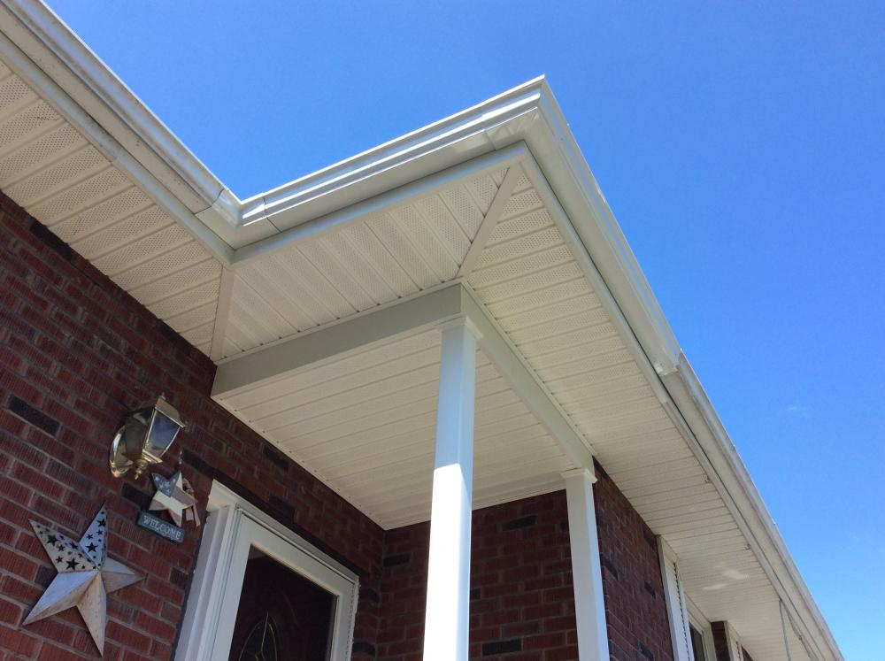Porch Roof, Fascia, Soffit and Gutter in Plains