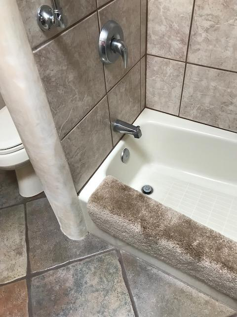Bathtub-to-Shower Conversion for a bathroom in Santa Fe, NM.