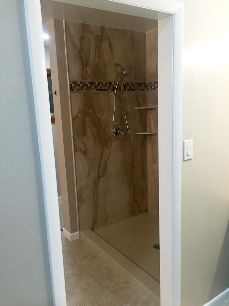 Tub-to-Shower Conversion completed by our team in Albuquerque, NM.