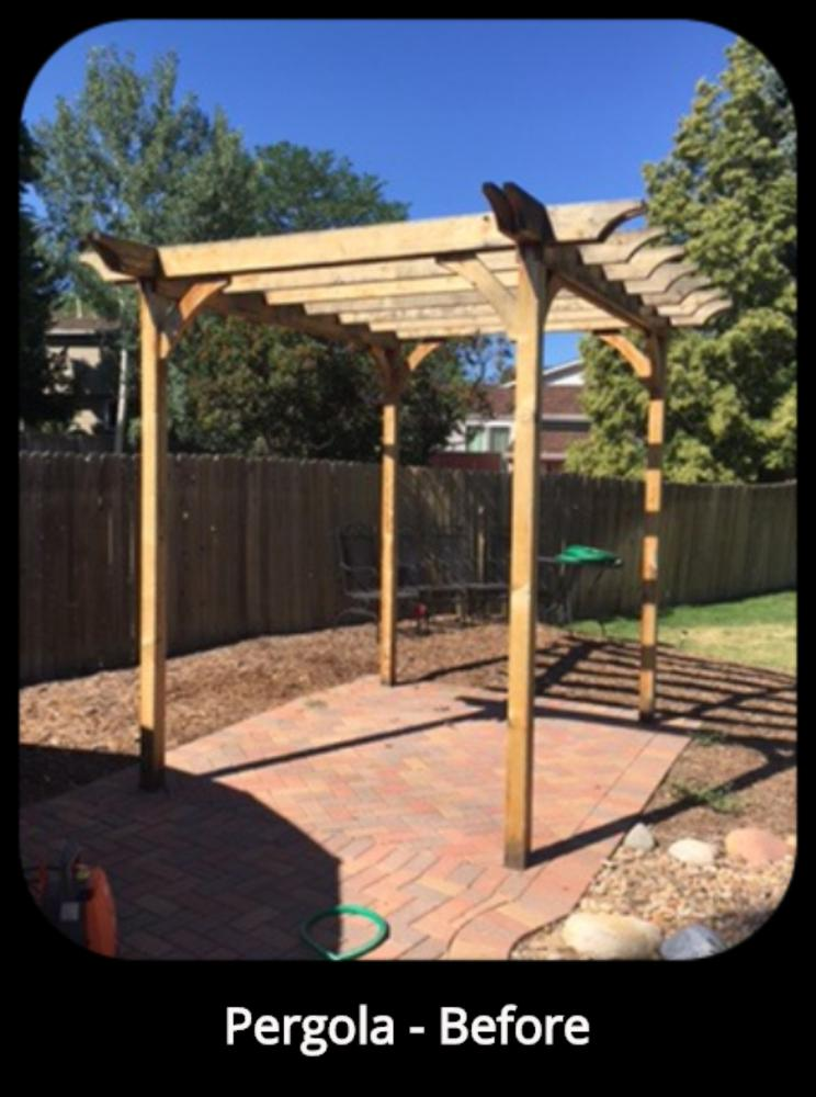 Re-seal Pergola, Centennial, CO - Before