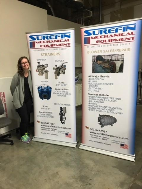 Tiffany with Surefin Mechanical Equipment Banners