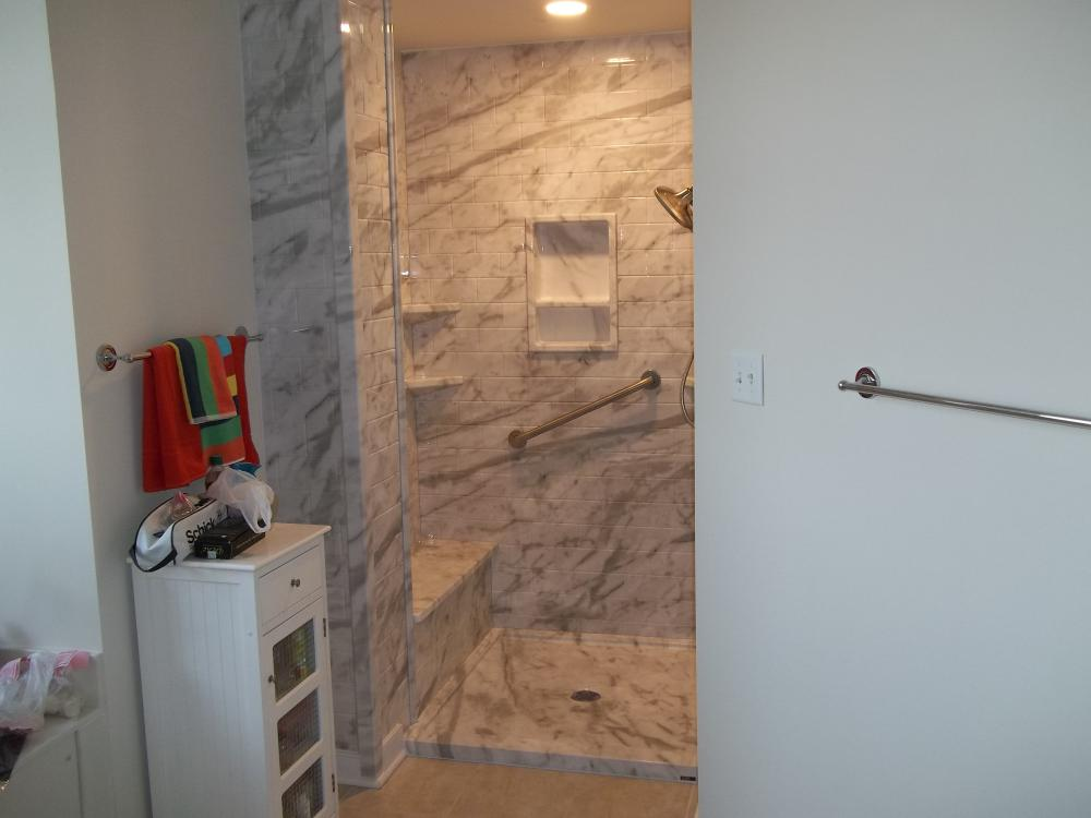 #24 After - walk-in seated shower in Glen Allen, VA