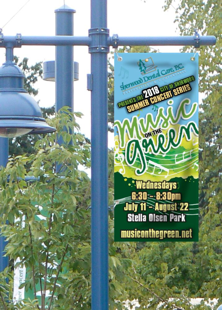 City of Sherwood - Music on the Green Banners