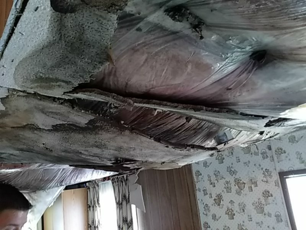 Water Damage On Porch Ceiling In Ephrata