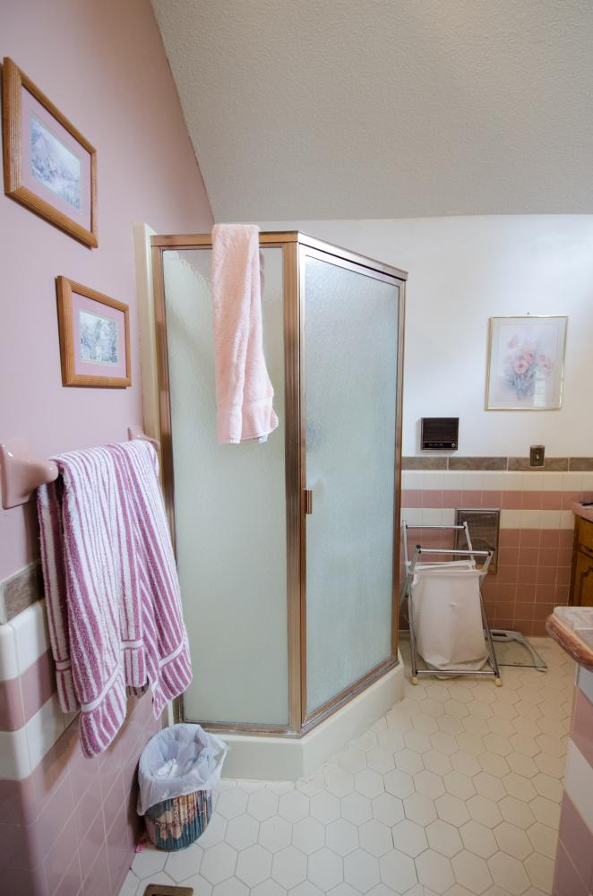 outdated shower