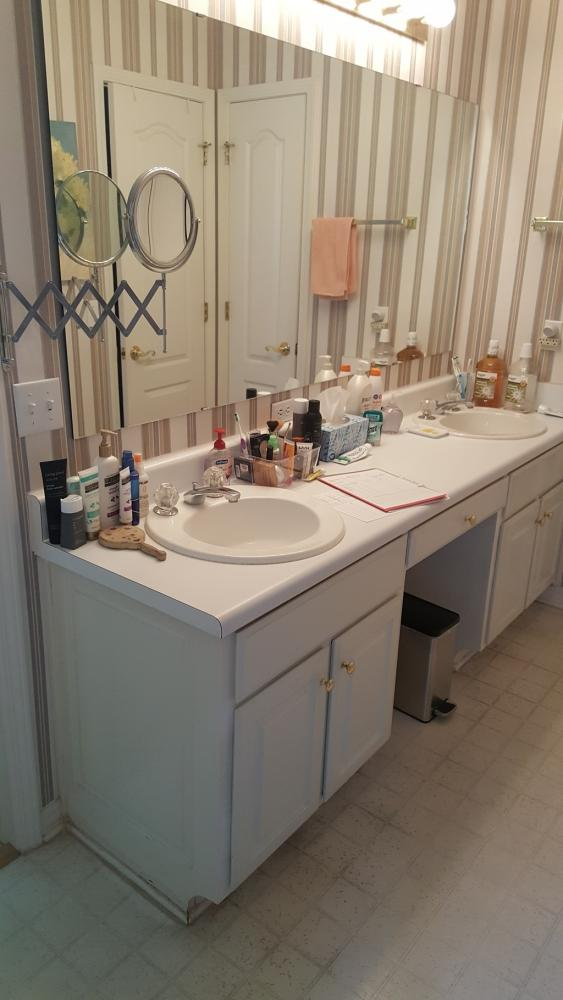 Vanity bathroom remodel bay county panama city rebath