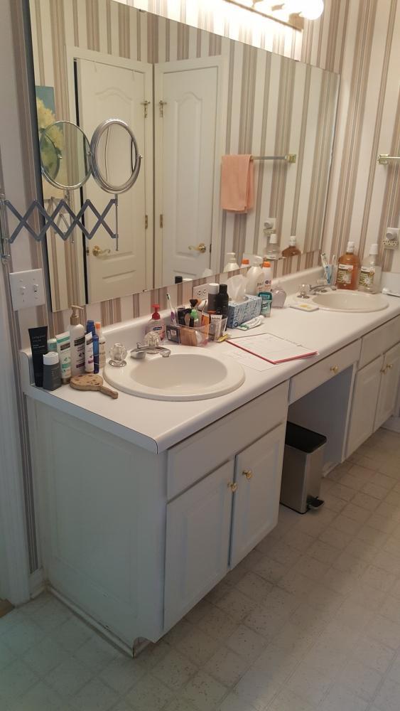 Vanity bathroom remodel bay county panama city rebath
