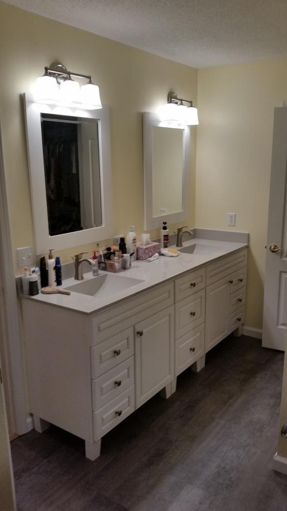 After ReBath vanity bathroom remodel bay county panama city
