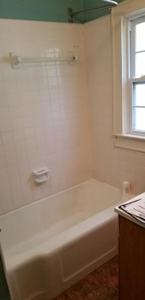 Before and after ReBath bathroom remodel bay county panama city tub to shower