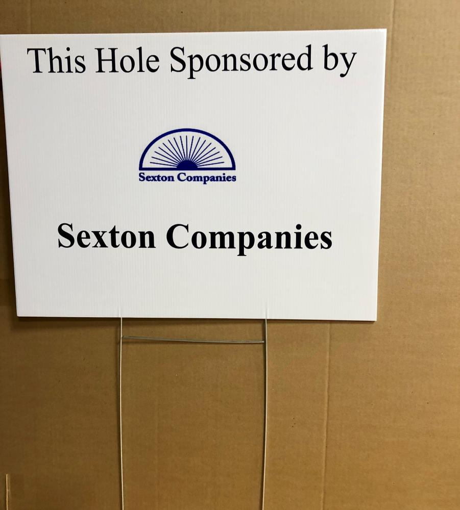 Sexton Companies Golf Sign
