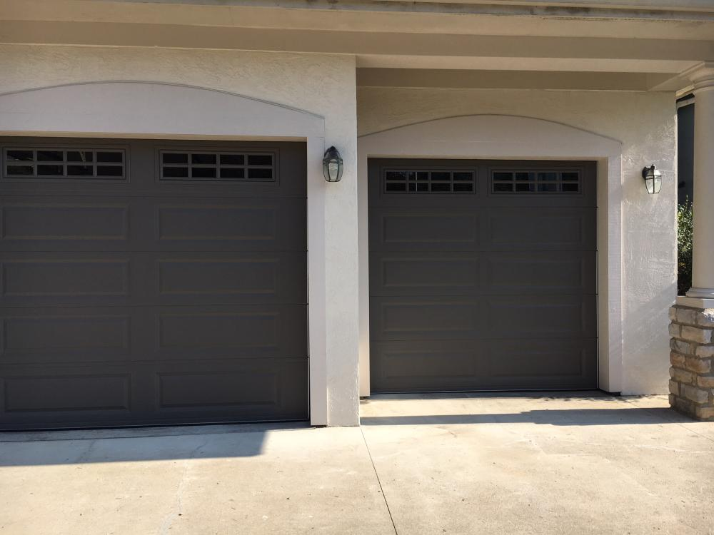 After Garage Door and Stucco Repair in Westerville