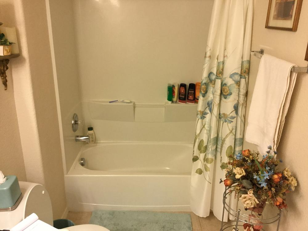 Before we took out the outdated tub and installed a shower for easier user and access.