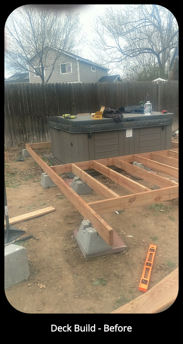 Deck Build - Before - Broomfield, CO